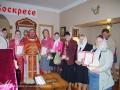 Группа участников и победителей конкурса с настоятелем храма, протоиереем Александром Новиковым