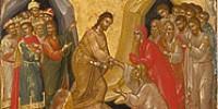 Пасхальный канон— творение прп. Иоанна Дамаскина. С переводом, ссылками на Священное писание итолкованиями
