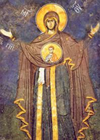 Образ Божией Матери «Оранта». Фреска. Сербия. XIV в.