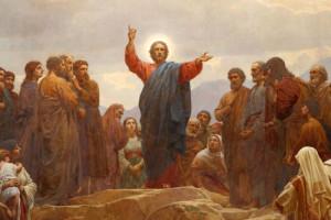 Нагорная проповедь фреска Хенрик Олрик 1830-1890. датский художник