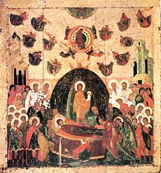 Ил. 5. Успение Богоматери. Икона. Около 1479 г. Успенский собор Московского Кремля