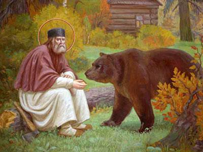 serafim_sarov-i-medved2